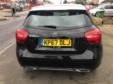 MERCEDES BENZ A 180d SPORT EXECUTIVE 2018(67 Reg) MANUAL